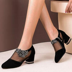 Women's PU Chunky Heel Closed Toe With Zipper shoes