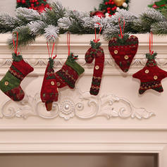 Merry Christmas Hanging Non-Woven Fabric Doll Christmas Décor