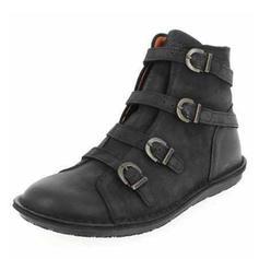 Bayanlar PU Düz topuk Flats Kapalı Toe bot ayakkabı Ile Toka ayakkabı