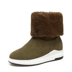 Women's Suede Wedge Heel Platform Wedges Ankle Boots With Fur shoes