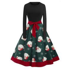 A-линии Длина колена марочный/рождество/Повседневная/элегантный Платья