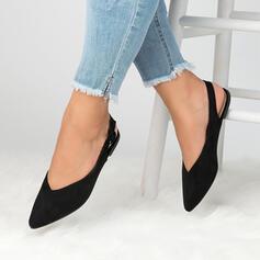 De mujer Ante Tacón ancho Planos Dedo del pie puntiagudo con Agujereado zapatos