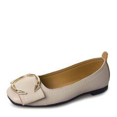 Femmes Similicuir Chaussures plates Bout fermé avec Boutons chaussures