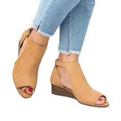 Női Szövet Alacsony sarok Szandál -Val Egyéb cipő