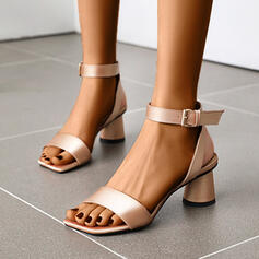 Women's PU Cone Heel Sandals Pumps With Buckle shoes
