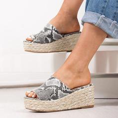 De mujer PU Tipo de tacón Sandalias Cuñas Encaje con Otros zapatos