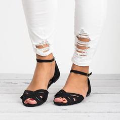 Vrouwen Kunstleer Flat Heel Sandalen Flats met Gevlochten Riempje schoenen