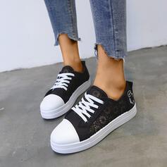 De mujer Cuero Malla Casual al aire libre zapatos