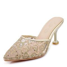 Women's Mesh Stiletto Heel Sandals Pumps shoes
