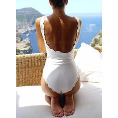Jednobarevné Jedno rameno Elegantní Jednodílné Costume de baie