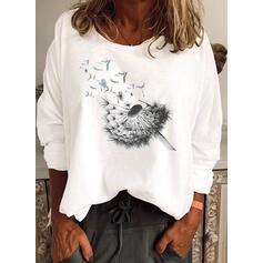 Dandelion Round Neck Long Sleeves T-shirts