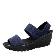 Femmes PU Talon compensé Sandales Plateforme Compensée À bout ouvert avec Autres chaussures