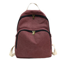 Casual Canvas Travel Zipper Canvas Backpacks for Teenager