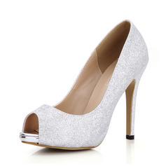 Femmes Pailletes scintillantes Talon stiletto Sandales À bout ouvert chaussures