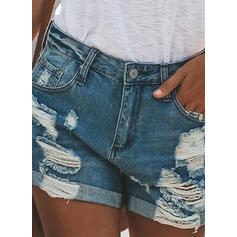Gescheurd Casual Jean Shorts