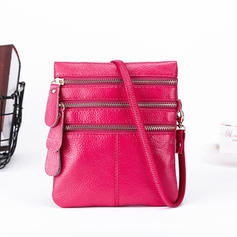 Women Genuine Leather Multi-Function Phone Purse Crossbody Bag