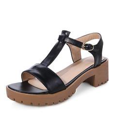 Női PU Chunky sarok Szandál Magassarkú Emelvény Peep Toe Zárt szandál -Val Csat cipő