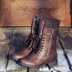 Γυναίκες Λείαντο Χαμηλή τακούνια Μπότες Με Κέντημα-επάνω παπούτσια