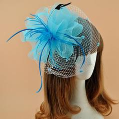 Ladies ' Elegant Kambriske med Fjer Fascinators/Kentucky Derby Hatte