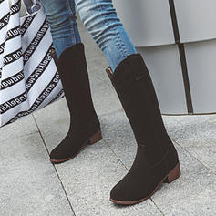 Vrouwen Kunstleer Chunky Heel Half-Kuit Laarzen met Anderen schoenen