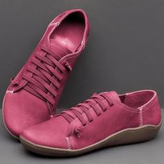 Жіночі ПУ Низька підошва Низька підошва з Зашнурувати взуття
