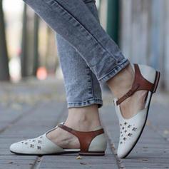 Dámské PU Placatý podpatek Boty Bez Podpatku S Ostatní obuv