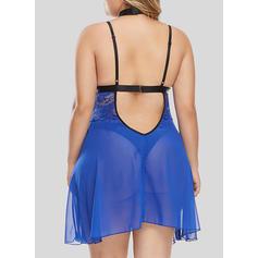 Polyester Elastan Spets Underklänning
