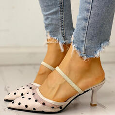 Donna PU Tacco a spillo Stiletto Ciabatte con Altrui scarpe