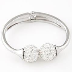 Fashionable Alloy Rhinestones With Rhinestone Ladies' Fashion Bracelets