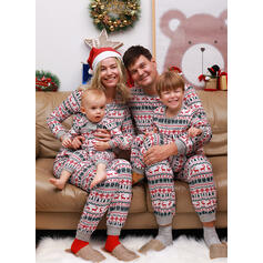 Deer Impressão Família Combinando Natal Pijama