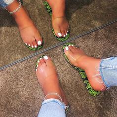 De mujer PVC Tacón plano Pantuflas con Otros zapatos