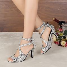 Women's Leatherette Heels Sandals Pumps Latin Dance Shoes
