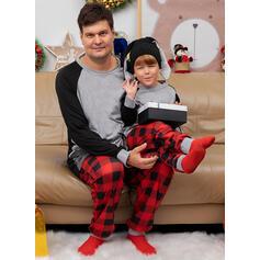 Hjort Plaid Print Familie matchende Jule Pyjamas