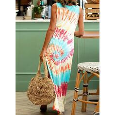uvázat barvivo Bezrukávů Splývavé Neformální Maxi Šaty