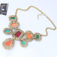 Nizza Legierung Harz Frauen Mode-Halskette (Sold in a single piece)