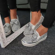 Femmes PU Décontractée De plein air avec Strass Bowknot chaussures