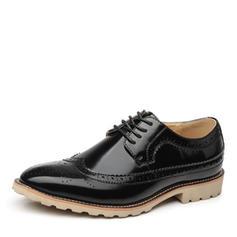 Lace-up Brogue Dress Shoes Patent Leather Men's Men's Oxfords