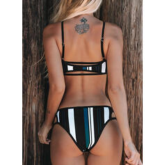 Stripe Strap V-Neck Sexy Boho Bikinis Swimsuits