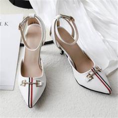 Vrouwen Microfiber leer Stiletto Heel Sandalen Pumps Closed Toe met Anderen schoenen