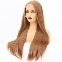 Egyenes Szintetikus haj Csipke front parókák 340g
