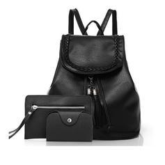 Delicate/Solid Color Patent Leather Bag Sets/Backpacks/Wallets & Wristlets