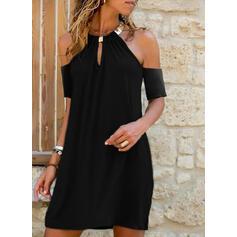 Κοντά Μανίκια Αμάνικο Πάνω Από Το Γόνατο Μικρό μαύρο/Καθημερινό/Διακοπές Сукні