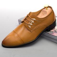 Men's Microfiber Leather Casual Men's Oxfords