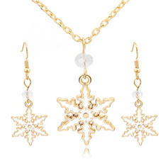 Star Shaped Alloy Jewelry Sets Christmas Jewelry (Set of 2)