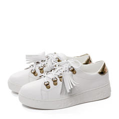 Women's PU Casual Outdoor With Rivet Lace-up Tassel shoes