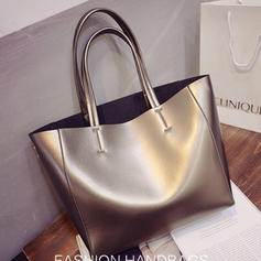 Commuting/Solid Color PU Totes Bags/Shoulder Bags