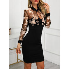 Print/Floral Long Sleeves Bodycon Above Knee Casual/Elegant Dresses