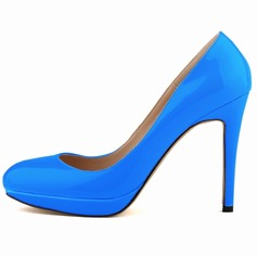 Women's Patent Leather Stiletto Heel Pumps Closed Toe shoes