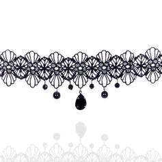Moda Encaje con Perlas de imitación Señoras' Collar de la manera