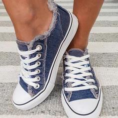 Mulheres Lona Casual Outdoor com Aplicação de renda sapatos